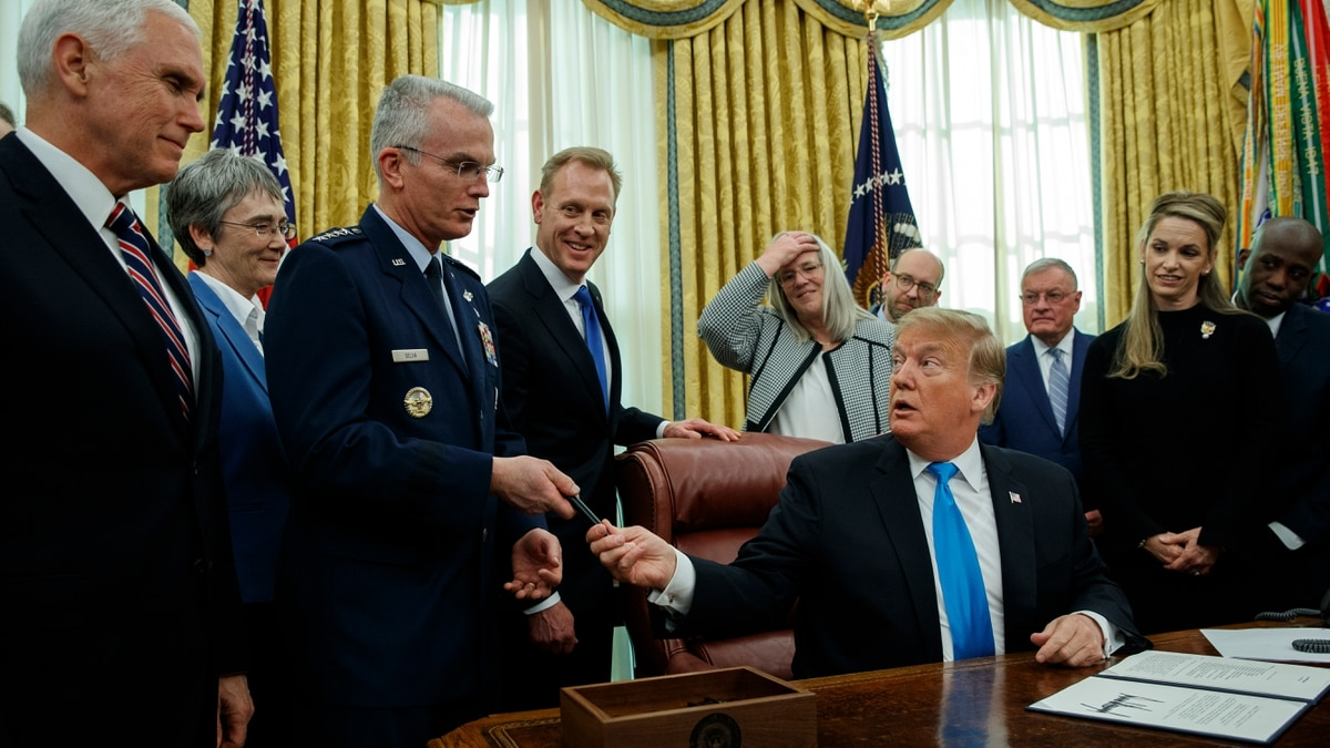 President Trump orders creation of Space Force, but within Air Force
