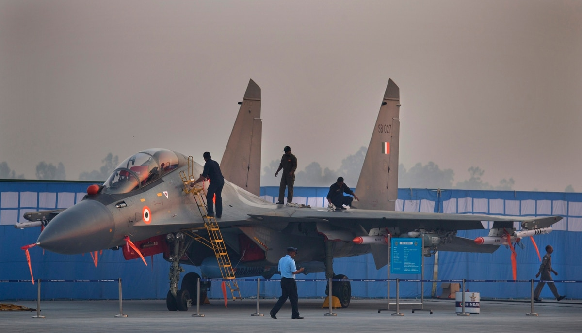 Su-30MKI with R-77 AAM