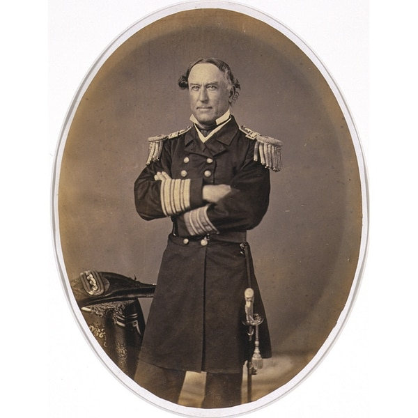 David Glasgow Farragut, 5 Jul 1801 - 15 Aug 1870 (Albumen silver print photograph by Edward Jacobs, c. 1862, now in the National Portrait Gallery, Smithsonian Institution)