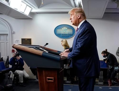 President Donald Trump speaks at the White House on Nov. 5, 2020, in Washington. (Evan Vucci/AP)