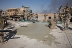 Airmen resurrect Iraqi airfield wrecked by ISIS, in time for Mosul fight