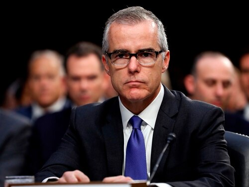 In this June 7, 2017, photo, then-acting FBI Director Andrew McCabe appears before a Senate Intelligence Committee hearing about the Foreign Intelligence Surveillance Act, on Capitol Hill in Washington. McCabe has sued the FBI and the Justice Department over his firing. (Alex Brandon/AP)