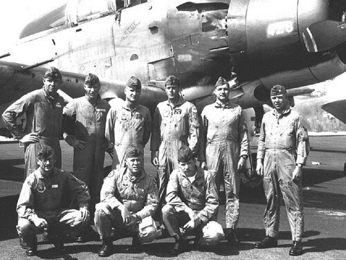 Then-Capt. Jimmy Kilbourne, bottom right, poses with his A-1 Skyraider training class at Hurlburt Feld, Florida, in 1967. Kilbourne received two Silver Stars, three Distinguished Flying Crosses and many more decorations for his service in the Korean and Vietnam wars. (Air Force)