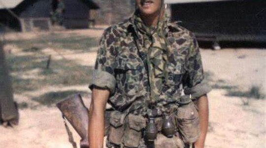 """Sgt. Charles """"Chuck"""" Mawhinney, who recorded 103 confirmed kills and 216 probable kills with M40 sniper rifle and Redfield 3x9x40 scope while serving in the Vietnam War. (Sgt. Charles """"Chuck"""" Mawhinney)"""