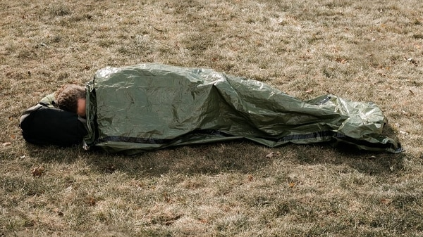 This bivy sack was designed to keep you alive in the great outdoors, it obviously has applications elsewhere.
