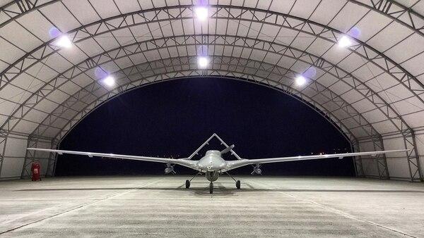 The Bayraktar TB2 is a medium-altitude, long-range tactical UAV system. (Bayhaluk via Wikimedia Commons)