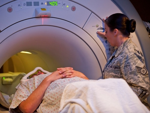 An upgraded MRI scanner could help detect mild traumatic brain injuries. (A1C Thomas Spangler/Air Force)