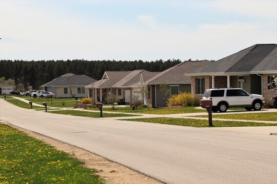 Overall satisfaction with Army housing has improved in the past year, according to a newly released survey. Pictured is the South Post Family Housing area at Fort McCoy, Wisconsin. (Scott T. Sturkol/Army)