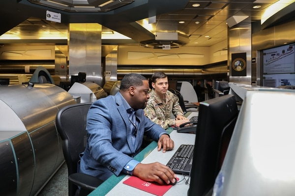 Operations are pictured underwary at U.S. Army Cyber Command headquarters, Fort Belvoir, Virginia, May 15, 2019. (Joy Brathwaite/Army)