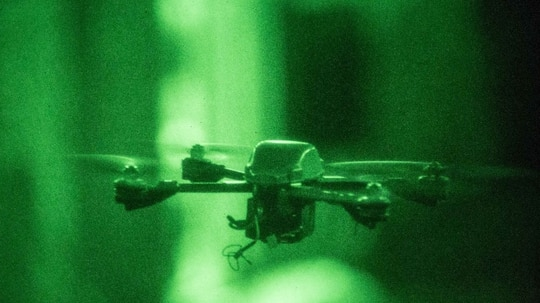 The Instant Eye quadcopter is part of the Pentagon's growing inventory of small drones. (Jered T. Stone/ Marine Corps)