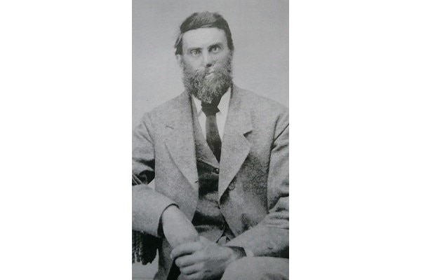 In an attempt to cover up war wounds that left his face severely disfigured, Civil War veteran Oliver Dart Jr., of the 14th Connecticut, grew a bushy beard and mustache. (Courtesy of Frank Niederwerfer)