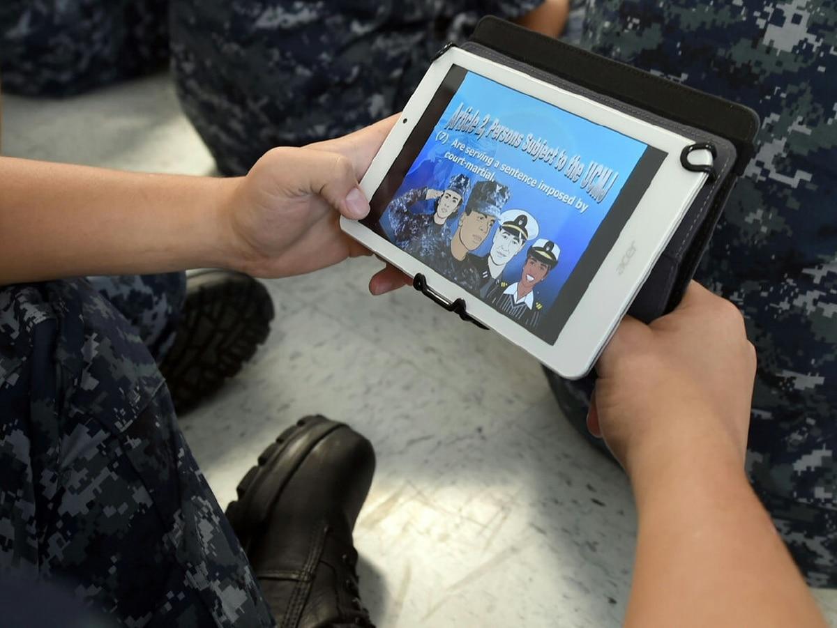 U.S Navy • Testing Tablets at Bootcamp