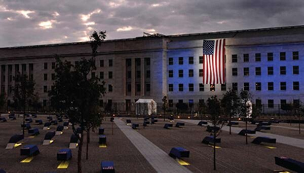 The Pentagon Memorial was dedicated in 2008 to honor those who died there on Sept. 11, 2001. (Defense Department)