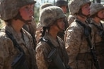 Recruits with first partially gender-integrated Marine boot camp company earn the title Marine