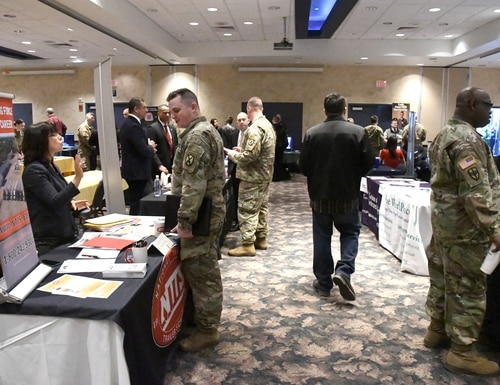 Since the onset of COVID-19, in-person career fairs haven't been feasible. Virtual events are intended to fill that gap. (Photo by Mike Strasser, Fort Drum Garrison Public Affairs)