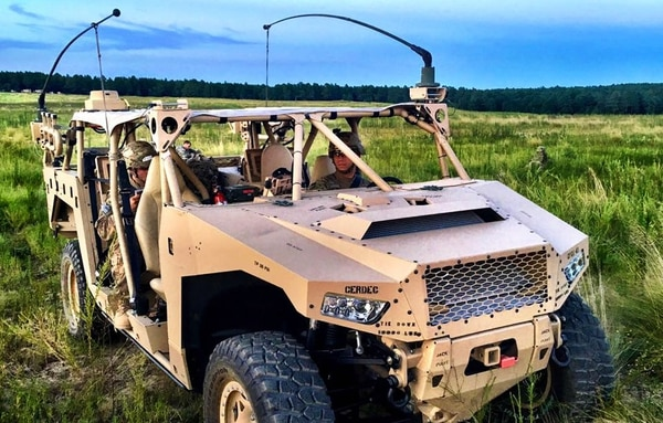 Researchers with the U.S. Army Research Development Engineering Command have found a host of ways to make mission command equipment more mobile, rugged, resilient and easier to use such as the Ultra-Light Command Post Node pictured here. (RDECOM)