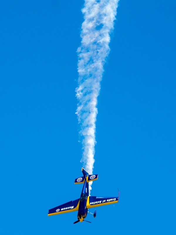 A Zivco Edge 540 performs a demo near 16th Street in Ocean City during the Ocean City Air Show on Saturday, June 18.