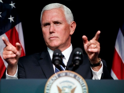 Vice President Mike Pence, shown in August 2018, says the White House seeks to circumvent Congress on the border wall funding impasse that led to the partial government shutdown. (Evan Vucci/AP)