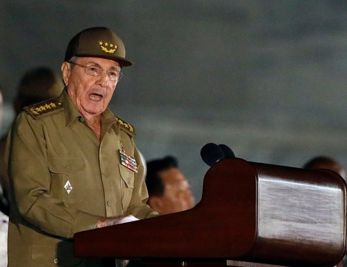 "In this Nov. 29, 2016, file photo, Cuba President Raul Castro speaks during a rally in Havana, Cuba. Raul Castro appeared as alarmed as the Americans. The United States, his nation's sworn enemy until recently, was demanding urgent answers about a spate of U.S. diplomats harmed in Havana. There was talk of futuristic ""sonic attacks"" and the subtle threat of repercussions. What the Cuban president did next surprised Washington. Castro sought out Jeffrey DeLaurentis, then the top American diplomat in Havana. In a rare face-to-face conversation, Castro personally denied any responsibility and told DeLaurentis he was equally befuddled, several U.S. officials familiar with the exchange told The Associated Press. (Ricardo Mazalan/A{)"