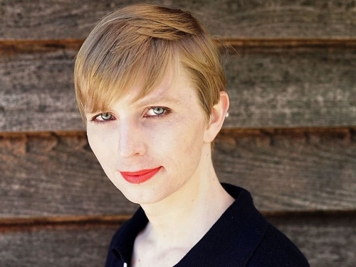 Chelsea Manning pictured in a photograph published to her Twitter account on 18 May 2017.