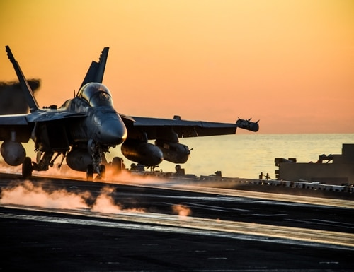 An EA-18G Growler takes off from the flight deck of the aircraft carrier USS Ronald Reagan (CVN 76) during Keen Sword 21 on Oct. 28, 2020, in the Philippine Sea. (MC3 Gabriel A. Martinez/Navy)