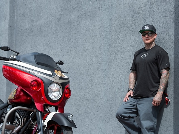 Indian Motorcycle brand ambassador -- and Indian Chief owner -- Carey Hart is taking his ride to Germany. (Indian Motorcycle)