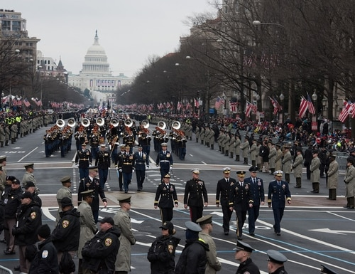 Soldiers from the 3rd U.S. Infantry Regiment and service members from around the Department of Defense participate in the 58th Presidential Inauguration and parade January 20, 2017. (Army)