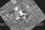 Watch a B-52 bomb an ISIS weapon facility for the first time in Iraq