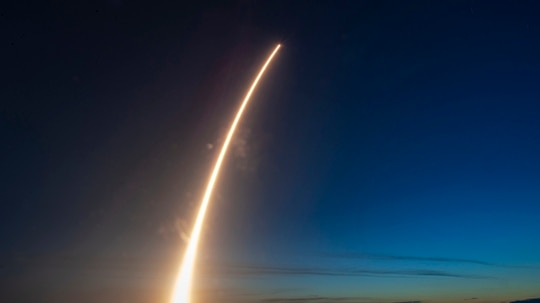 Space and Missile Systems Center of the U.S. Air Force's 5th Advanced Extreme High Frequency (AEHF-5 ) atop a United Launch Alliance's Atlas V rocket lifts off on Aug. 8, 2019, from Space Launch Complex-41 at Cape Canaveral Air Force Station, Fla. (DoD)