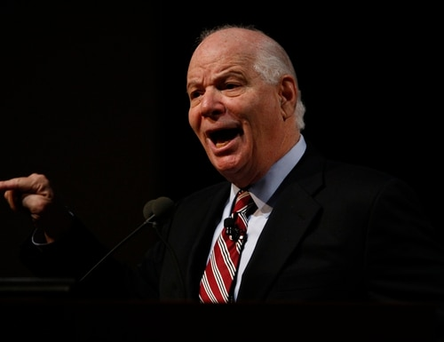 Sen. Ben Cardin (D-MD) holds a town hall meeting at the National Institutes of Health in Bethesda, MD on Friday, February 8, 2013. (Mike Morones/Federal Times)