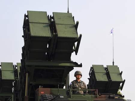 South Korea has deployed several batteries of upgraded Patriot Advanced Capability-2 systems bought from Germany. (Jung Yeon-Je/AFP via Getty Images)