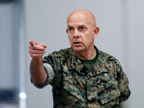"""We may need to get smaller, trade some parts we've had for a long time but are not a good fit for the future,"" Commandant Gen. David H. Berger said. (Warrant Officer Bobby J. Yarbrough/Marine Corps"
