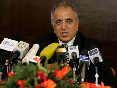 In this March 2009, file photo, Zalmay Khalilzad, special adviser on reconciliation in Kabul, Afghanistan. (Rafiq Maqbool/AP)