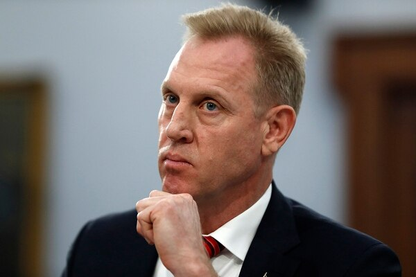 Acting Defense Secretary Patrick Shanahan listens during a May 1, 2019, House Appropriations subcommittee on Capitol Hill in Washington. (Jacquelyn Martin/AP)