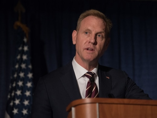 U.S. Deputy Secretary of Defense Patrick Shanahan speaks at the Annual Association of the U.S. Army conference in Washington on Oct. 10, 2018. (Sgt. Amber I. Smith/U.S. Defense Department)