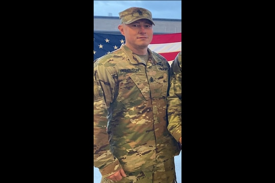 Command Sgt. Maj. Kevin Peterson, senior enlisted leader of 2nd Battalion, 44th Air Defense Artillery Regiment, was arrested Sunday morning, July 25, 2021, on suspicion of domestic violence in Clarksville, Tennessee. (Army/Facebook)