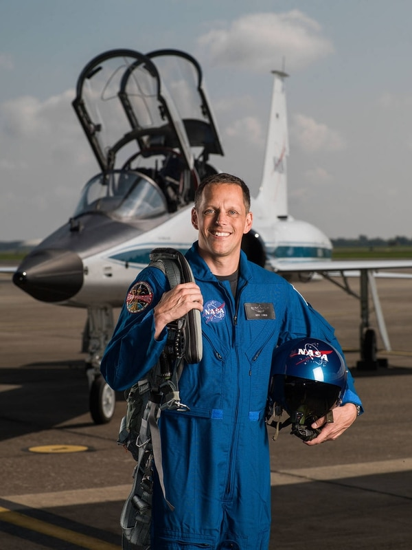 2017 NASA Astronaut Candidate - Bob Hines. Photo Date: June 6, 2017. Location: Ellington Field - Hangar 276, Tarmac. Photographer: Robert Markowitz