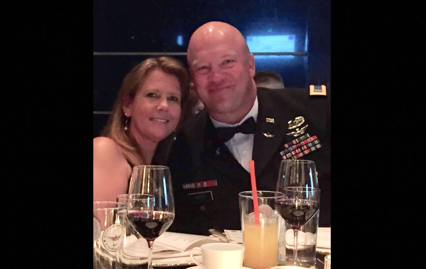 CW4 Paul J. Reidy pictured with his wife, Jennifer, during an Army ball in South Korea. (Jennifer Reidy/Courtesy photo)