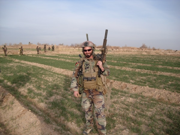 Maj. Mathew Golsteyn, shown on deployment. (Courtesy Rep. Duncan Hunter's office)