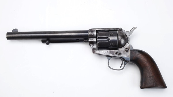 Though Smith & Wesson provided the Army its first metallic cartridge firearm (the .45 Schofield Model 3), Colt regained the crown with its .45-caliber Single Action Army (aka