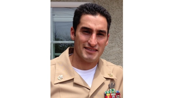 Navy Chief Petty Officer Jason Finan, 34, of Anaheim, California, was killed by an improvised explosive device while serving in the 2016 Mosul Offensive. (Navy)