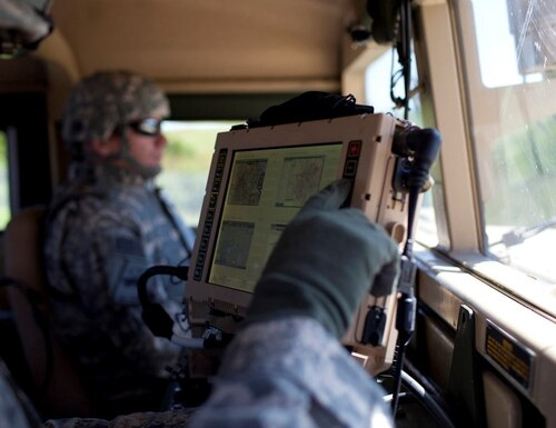 Leonardo DRS was awarded a $206 million contract to provide installation kits for the Army's next-generation Mounted Family of Computer Systems II. (Audra Canestrari/Leonardo DRS)