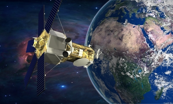 The Lockheed Martin-built WorldView-4 satellite will orbit the earth every 90 minutes capturing 600,000 square miles of imagery everyday. (Lockheed Martin)