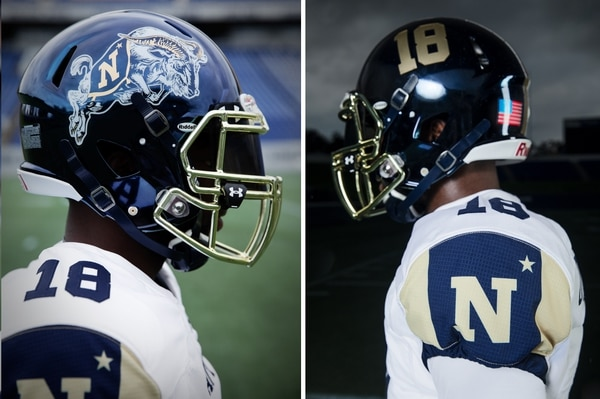 The Midshipmen will wear a classic looking uniform that Under Armour absolutely nailed. (Navy Athletics/Under Armour)
