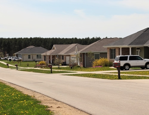 A new survey finds many troops are paying more than expected out of pocket for houses they rent off base. Pictured here is military housing on base at the South Post Family Housing area at Fort McCoy, Wis. (Scott T. Sturkol/Army)