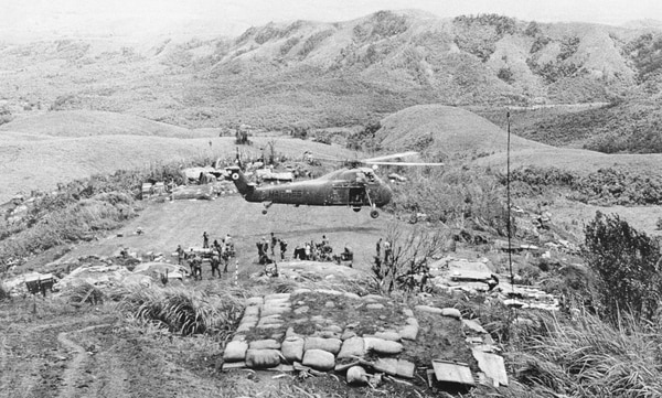 A picture of Hill 861 south Landing Zone in Vietnam July 28, 1967. (Marine Corps)