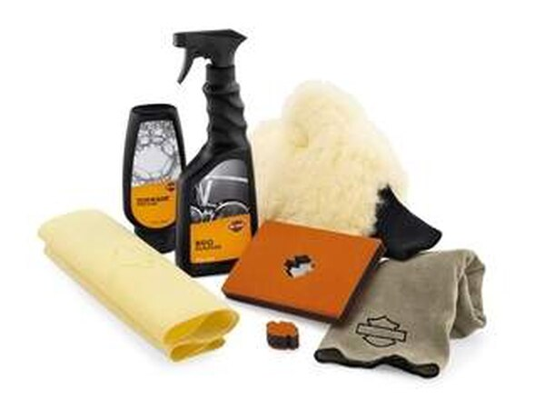 Get everything you need to fully wash every inch of your bike in one single package. (Harley-Davidson)