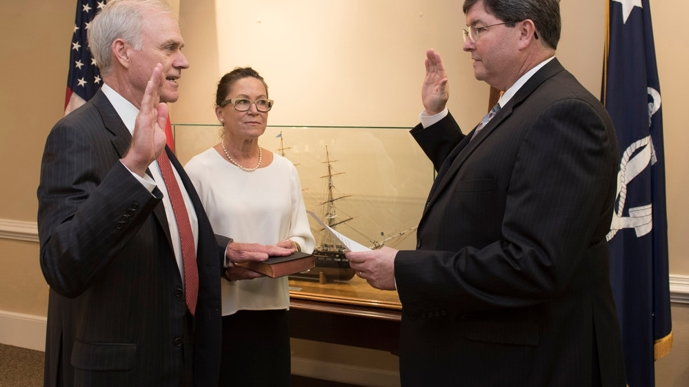 Richard Spencer was sworn in as the 76th secretary of the Navy Aug. 3, 2017. (U.S. Navy)