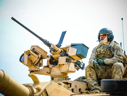An Army tank commander with 1st Battalion, 67th Armor
