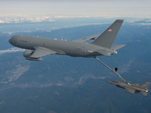 The KC-46 Pegasus will replace the Air Force's aging refueling tankers. (Paul Weatherman/Boeing)